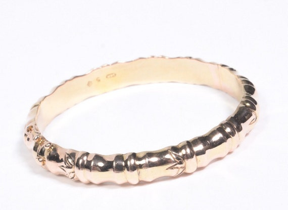 14 KT Gold Bamboo Bangle Bracelet 585 (26.75 grams)