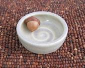 Wedding Ring Holder, Tiny Pottery Bowl, Ceramic Engagement Ring Dish, Stoneware Trinket Dish, Small Jewelry Dish, Engagement Gift