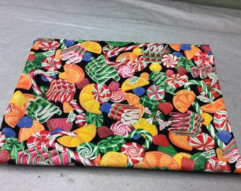 Christmas Candy Fabric with Sparkles