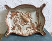 Ceramic Bee Dish - Honey Bee - Soap Dish or Trinket Dish - Handmade Pottery