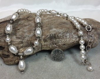 Swarovski Pearl and Sterling Silver Necklace