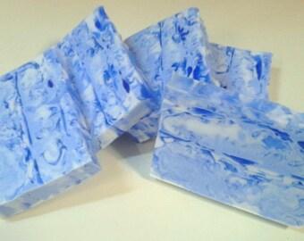Fresh Picked Blueberry Soap - Goats Milk and Glycerin swirl bar