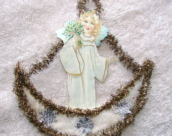 Angel Moon Cotton Christmas Ornament