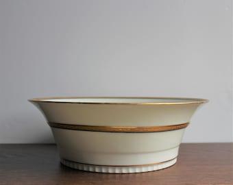 Vintage large porcelain bowl, Limoges France