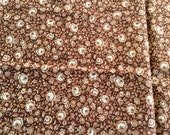 Brown Print VIP Quilting Cotton Fabric 38 inches long by 52 inches wide