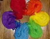 Neon Rainbow Bulky Wt, Superwash Merino Yarn