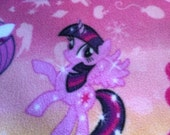 Fleece Purple Blanket with My Little Pony Print