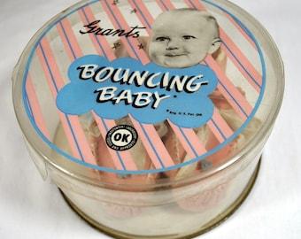 Grants Bouncing Baby Pink Wool Booties in Original Box