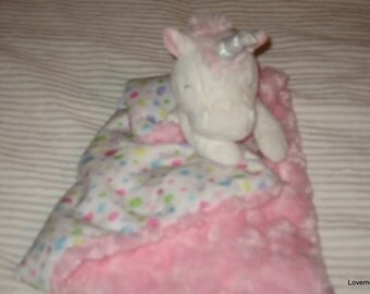 Security Blanket, baby blanket, luvi, lovie - unicorn lovems
