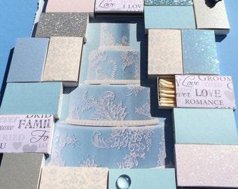 100 Custom Matchboxes Inspired by WEDDING magazine  Wedding Favors