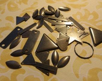 Antique brass connectors, misc antique brass connectors,