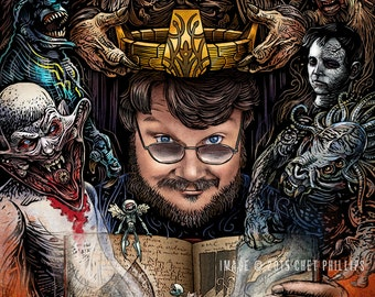King of the Monsters- Guillermo del Toro Portrait- Limited Edition Signed Print