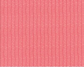 Sugar Pie (5044 19) Pink Herringbone by Lella Boutique