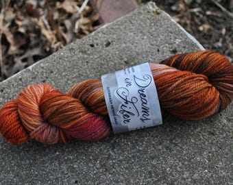 Superwash Merino Aran - Orange Spice Colorway