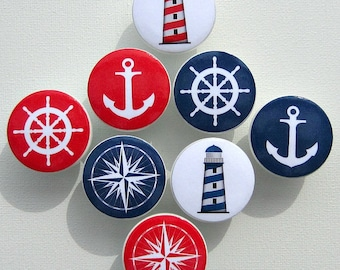 Nautical Knobs • Anchor • Lighthouse • Helm • Nautical Compass • Drawer Knobs • Dresser Pulls