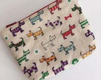 Scottie Dog Zipper Pouch Wallet, Scpttie Dog Zipper Pouch, Dog Zipper Wallet, Scottie Dog Zipper Coin Purse