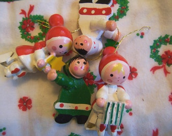 four fun christmas wood ornaments