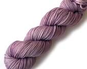SALE Hand Dyed Yarn Aran Silk Superfine Merino 50/50 Yarn, Dusty Plum
