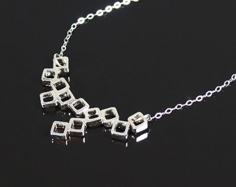 Sterling silver pendant and chain, lots of boxes