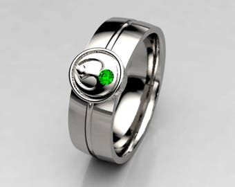 Star Wars Rebel Alliance Geek Engagement Ring in Silver