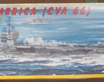 USS America Aircraft Carrier Plastic Model Kit