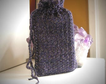 Lenormand bag / lenormand pouch / knit lenormand pouch / mini drawstring bag / oracle pouch / divination / oracle card bag / mini oracle bag