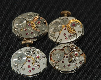 Vintage Antique small Watch Movements Steampunk Altered Art R 9