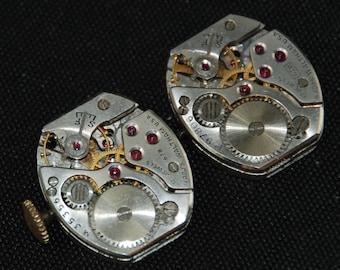 Vintage Waltham Watch Movements Parts Steampunk Altered Art Assemblage R 64
