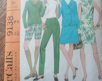 Vintage McCalls Size 16 Pants Shorts Jacket Top Dress Pattern
