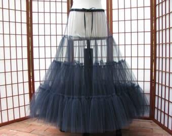 Petticoat Navy Blue Tulle -- Custom Order