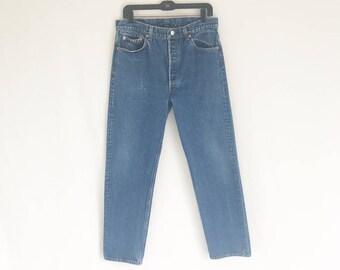 Vintage LEVIS 70's Straight Leg Jeans. Size Tagged 36 x 34 // 32 Waist