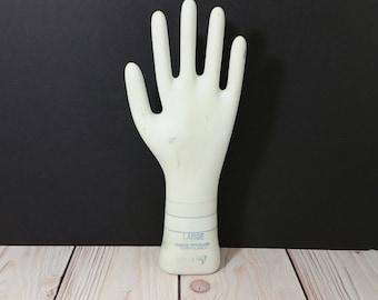 Vintage Glazed Porcelain Glove Mold Large General Porcelain