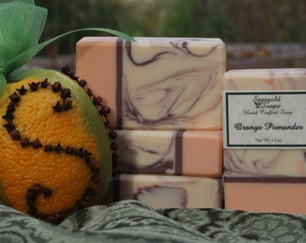 Orange Pomander Handmade Artisan Soap