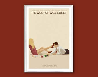 The Wolf of Wall Street movie poster print in various sizes