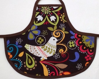 Bottle Apron in Birds of Norway Print from The Farmer's Daughter