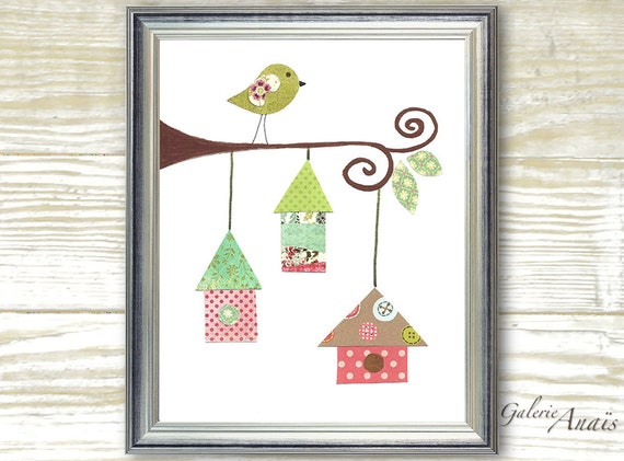 Vintage Baby Wall Decor : Kids art baby nursery decor wall