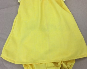 Infant 3-6 months dress with bloomers