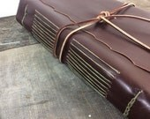 Deluxe Extra Large Handcrafted Leather Journal / Reclaimed Leather / Sketchbook by Binding Bee