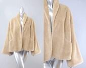 manteau en fausse fourrure | manteau vintage des années 1950 | 50 s manteau vintage