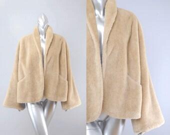 vintage faux fur coat | vintage 1950s coat | 50s vintage coat