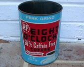 Vintage Coffee Tin Vintage A and P Coffee Can Tin Vintage Advertisement Vintage A&P Coffee Can