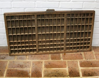 Antique Vintage Printers Wooden Tray Antique Vintage Hamilton Printers Drawer Shadow Box Letterpress Tray 147 Sections