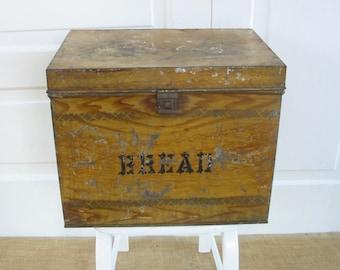 Vintage Brown Bread Box, Primitive Rustic Bread Box, Brown Metal Box, Metal Breadbox, Brown Box, Industrial Box, Primitive Breadbox