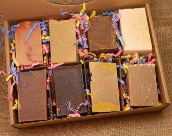 Goats Milk Soaps Sampler Family or Couples Gift Box 6