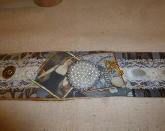 Textile Art Cuff (isa44)