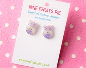 Adorable Magical Unicorn Earring studs in Pink and Lilac