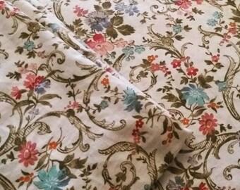 Pretty Vintage Floral Cotton  Fabric