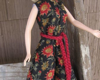 Handmade Barbie Doll Clothes Classic Floral Jumpsuit For The Basic Barbie