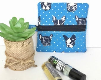 Roller Ball Bag, Mini Zip Pouch, Ear bud bag, small zipper pouch, earbud case, coin purse, front zip bag, Purse Organizer, Back Pack Bag