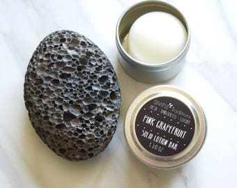Lotion Bar in Tin | Solid Lotion | Pink Grapefruit | Salve | Cuticle Salve | Solid Moisturizer | Gift for Her | Body Lotion Bar | Gift